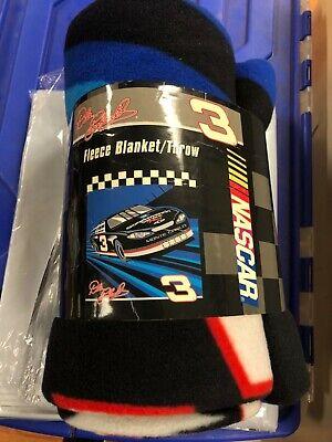 "NASCAR DALE EARNHARDT FLEECE BLANKET/THROW 50"" X 60"" Nascar Fleece Throw"