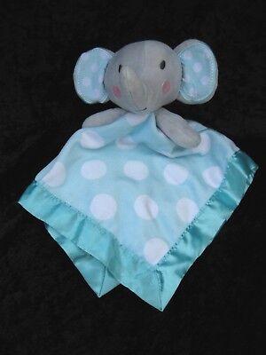 Circo Gray Elephant Aqua White Polka Dot Lovey Security Blanket 14x14 Target