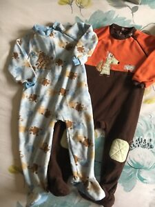 Baby boy footed onesies rompers 12-18mo