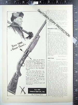 1952 Ithaca Gun Company NY Featherlight shotgun vintage advertisement ad