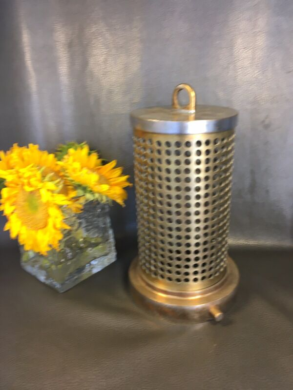 Vintage Brass Firehose Hard Suction Strainer 14 Inches High 7 Inches Wide