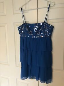 BCBG MAXAZRIA - Blue Sequin Dress