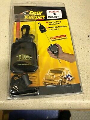 Gear Keeper 214-4112 Black Retractable CB Radio Microphone Mic Hanger/Holder