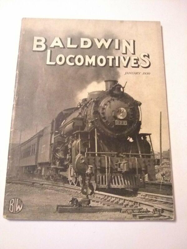 Baldwin Locomotives Magazine January 1930 Vintage Railroad