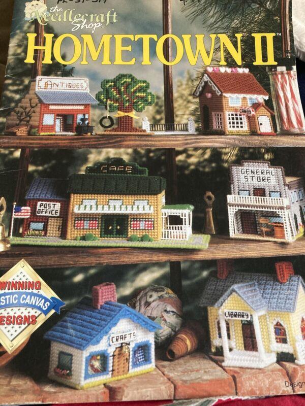 Hometown II Village Buildings Shops Plastic Canvas PATTERN/INSTRUCTIONS Booklet