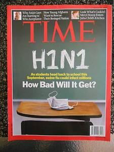 TIME magazine August 24 2009 H1N1 swine flu Asian gay & lesbian Carindale Brisbane South East Preview