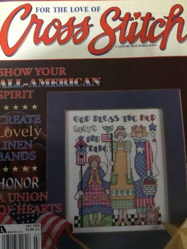 Counted Cross Stitch Pattern God Bless The Red White And Blue - $2.50