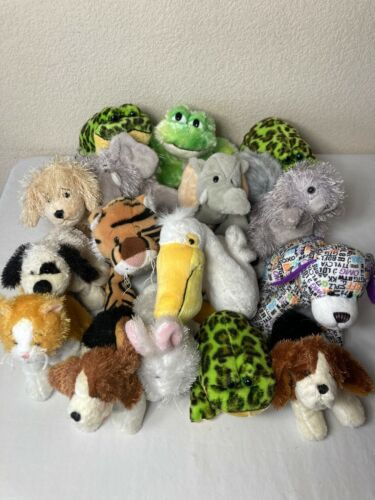 Webkinz by Ganz Lot Of 16 No Codes Lil Retired Frogs Elephant Pelican Squirrel +