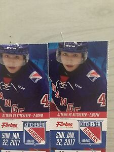 TwoRanger Tickets for Jan 22 game vs. Ottawa