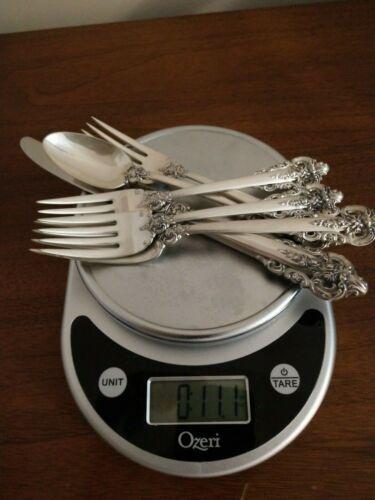 Signed Wallace Sterling Silver 925 Grande Baroque Flatware Forks, Spoon & Knife
