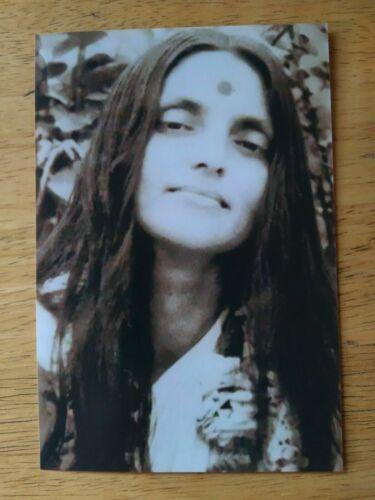 "🌻RARE PORTRAIT PHOTO ANANDAMAYI MA GREAT SAINT GURU INDIA 4"" x 6"" SEPIA TONE🌻"