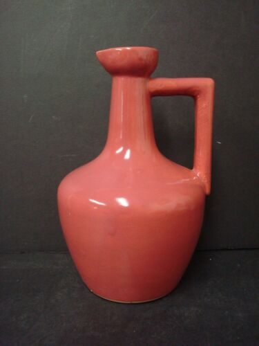 Vintage Uhl Pottery Liquor or Vinegar Jug #164, Maroon