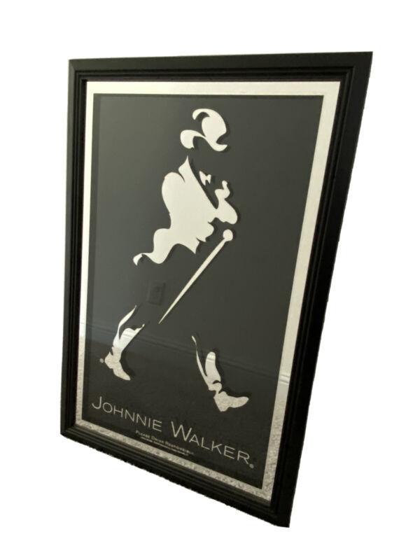 Johnnie Walker Striding Strutting Man Bar Mirror