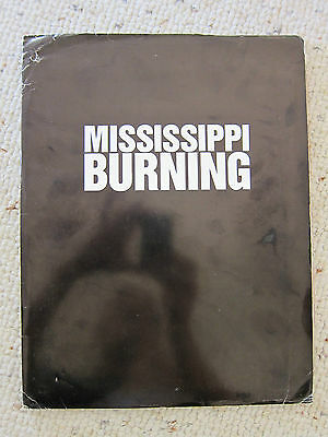 MISSISSIPPI BURNING Press Kit-Gene Hackman, Willem Dafoe, Frances McDormand