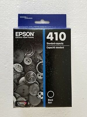 (Epson Claria Model 410 Black Standard Capacity Ink Cartridge Exp. 8/2019 T410020)