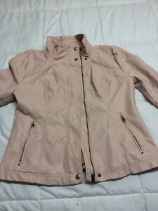 Off pink real leather jacket