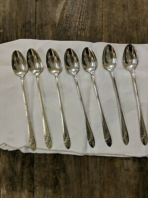 3  Oneida   QUEEN BESS II   Tudor Plate Silverplate  Solid Serving Spoons   1946