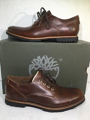 Timberland Mens Size 9 Kendrick WP Brown Leather Plain Toe Oxfords Shoes ZB-488
