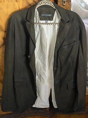 JOHN VARVATOS Collection Artisan Goat Suede Raw Cut Jacket Size Medium 50 Italy