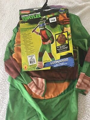 New Leonardo Teenage Mutant Ninja Turtle Halloween Costume Large 12-14 Boy Girl