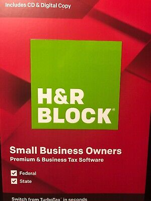 H&R BLOCK Tax Software Premium & Business 2019 factory sealed