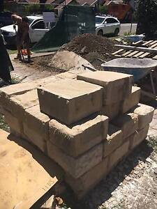 BRAND NEW Hand Shaped Sydney Sandstone Blocks QTY 34 and off cuts Artarmon Willoughby Area Preview