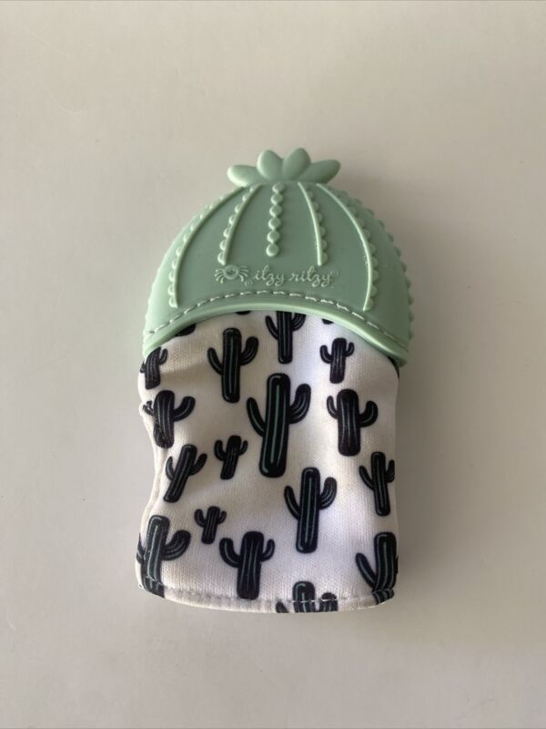 Itzy Ritzy Silicone Teething Mitt - Infant Teething Mitten-Cactus Print