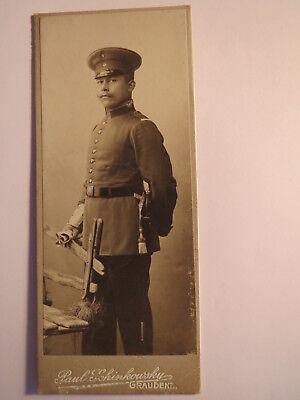 Graudenz - stehender Soldat in Uniform - Regiment IR 175 / CDV