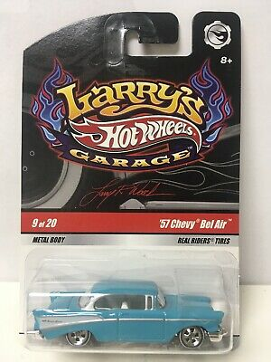 2009 Hot Wheels Larry's Garage Blue '57 Chevy Bel Air
