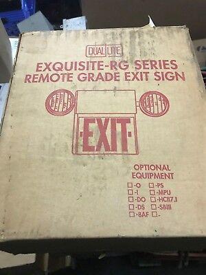 Dual Lite Exquisite Rg Series Remote Grade Exit Sign