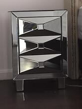 Mirrored bedside table Monterey Rockdale Area Preview