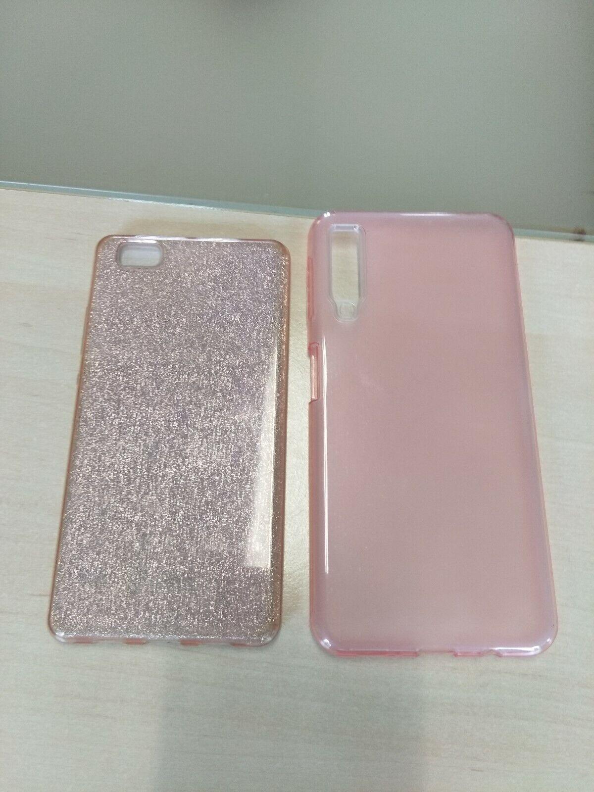 Lot de 2 coques pour smartphone rose