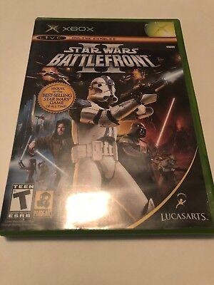 Star Wars: Battlefront II (Microsoft Xbox, 2005) Complete CIB