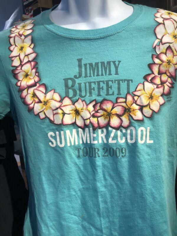 Jimmy Buffett Tour 2009 Turquoise Large Women's T-Shirt Summerzcool
