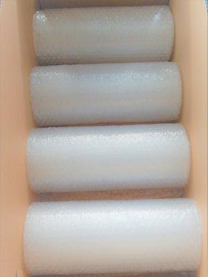 (0,66 €/m²) 4 Rollen Luftpolsterfolie je 30 cm breit 5 Meter lang 45mµ