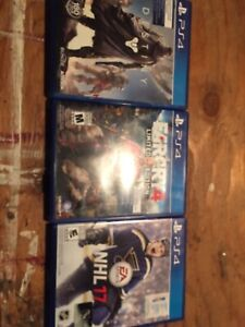 PS4 games (3 games for 25$ )