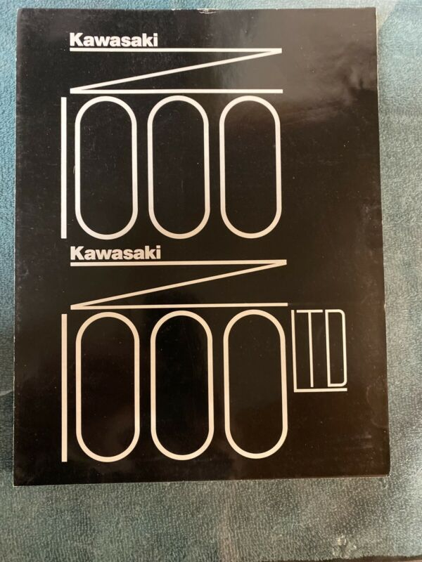 Original 1977 Kawasaki KZ1000 KZ1000 LTD Combo Sales Brochure