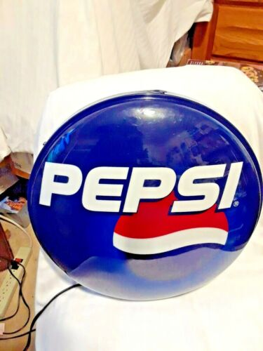 VINTAGE ROUND PEPSI LIGHT UP SIGN (ELECTRIC)