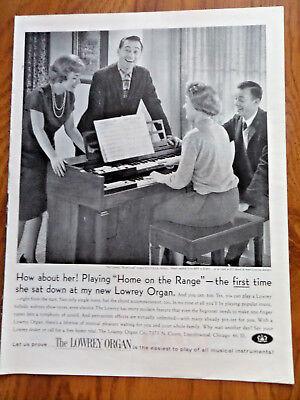 1961 Lowrey Organ Ad Brentwood Model