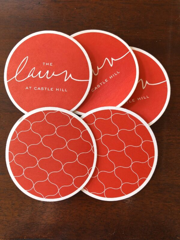The Lawn at Castle Hill Newport, RI Coasters - Set of 5 Paper Drink Coasters