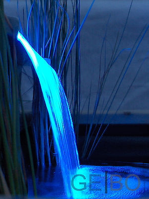 Wasserfall Niagara 60 Set Ubbink mit BLAUer LED Leiste f. Teich Bachlauf 1312099 - Fall Blaue Led