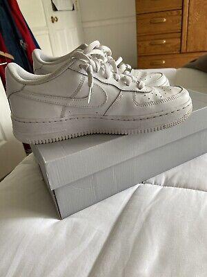 Nib Big Kids Size 7 NIKE AIR FORCE 1 Low Top Basketball Shoes White 314192-117