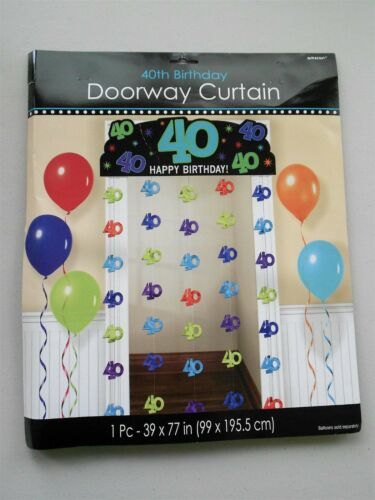 40th Birthday Party Doorway Curtain