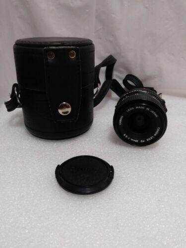 CANON Camera FD 28mm 1 2.8 LENS W/CAPS - $64.95