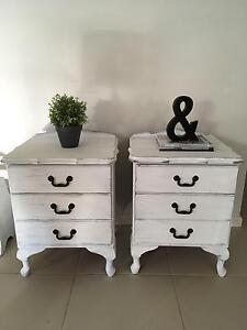 French Provincial Shabby Chic Coastal Vintage Bedside Tables Camden Camden Area Preview