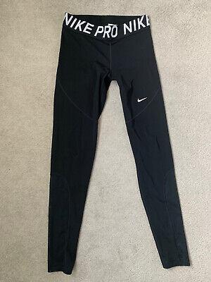 Nike Pro Dri Fit Black Training Gym Leggings M Medium