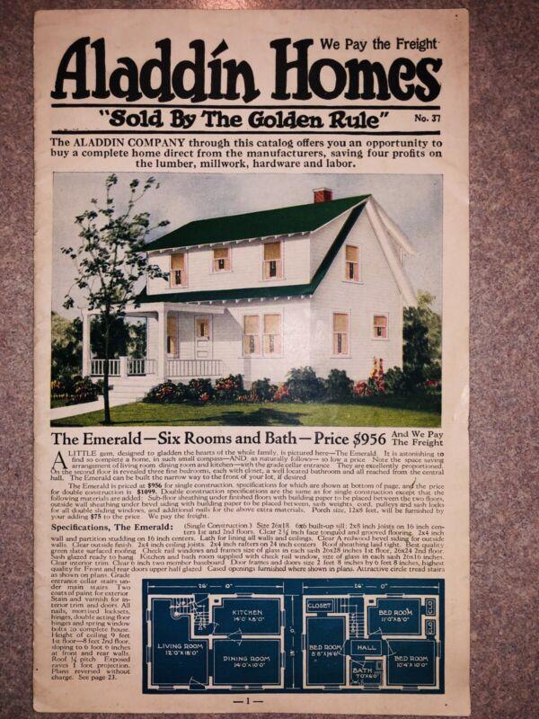 1925 Aladdin Homes Kit Brochure Bay City MI + Builder List