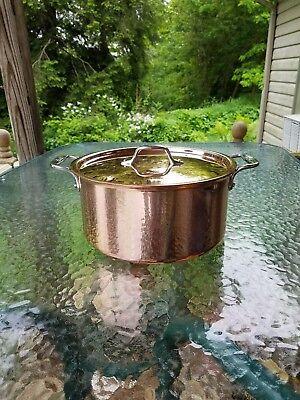 ALL CLAD C2 copper clad 8 qt quart STOCK SOUP SAUCE POT with lid MADE IN AMERICA All Clad 8 Quart Stock Pot