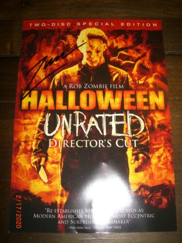 Original Rob Zombie Autographed Halloween DVD Movie Front Cover Insert Authentic