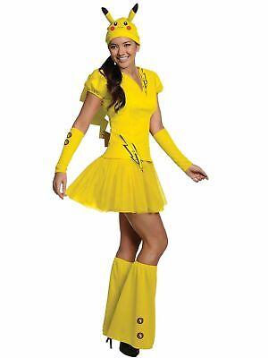 Pikachu Costume Adult Sexy Pokemon Halloween Fancy Dress (Halloween Costumes Pikachu)